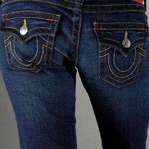 True Religion Dark Wash Flare Style Joey Jeans